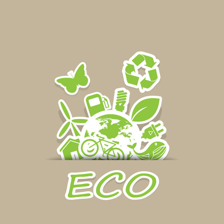 eco and Recycling symbols Vector