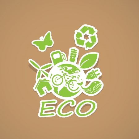 eco and Recycling symbols