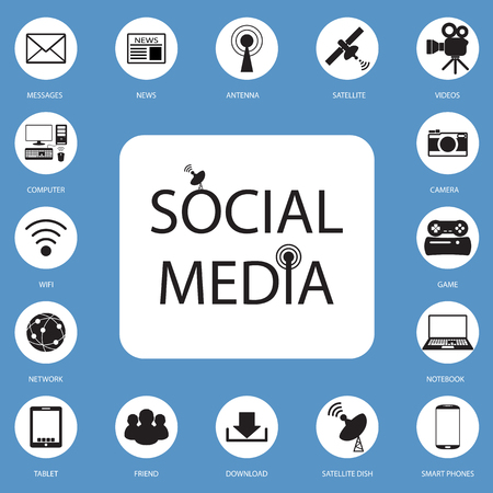 news icon: social network, communication in the global computer