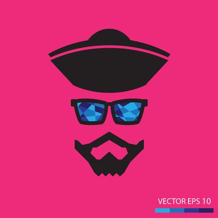 trendy male: Bearded men,Illustration