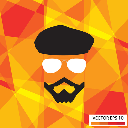 Bearded men,Illustration  Vector