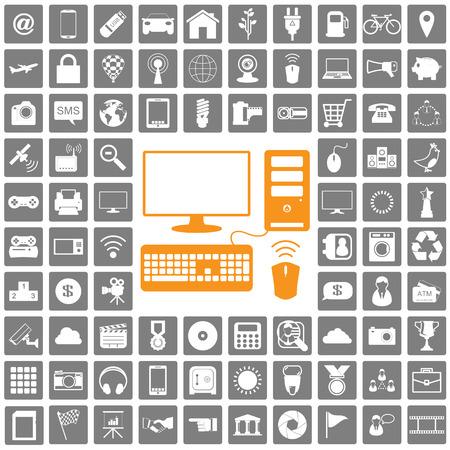 multimedia pictogram: icons web set
