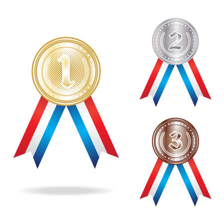 bronze medal: set of the gold, silver and bronze medals