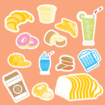 baked goods: bread Sticker and icon
