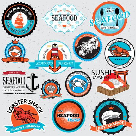seafood symbols  Stock Vector - 22455981