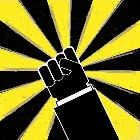temper: fight Illustration