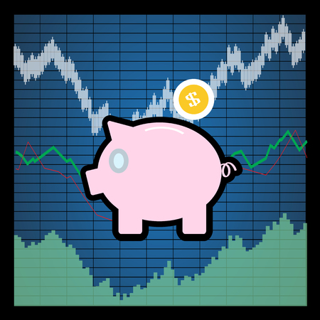 financial gains: finance stock Illustration