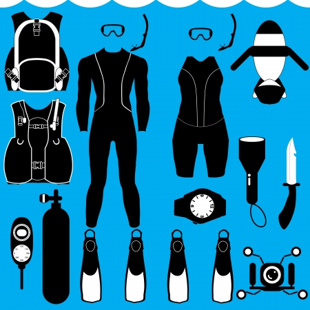 scuba summer Stock Vector - 22456188
