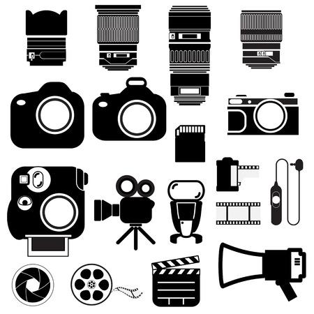 camera icon: Camera vector set