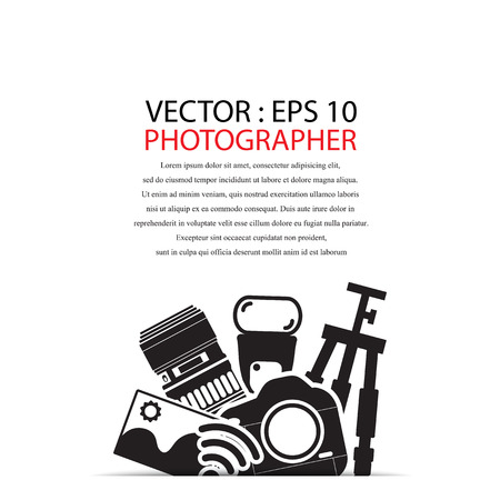slr: camera gadget set ,Illustration