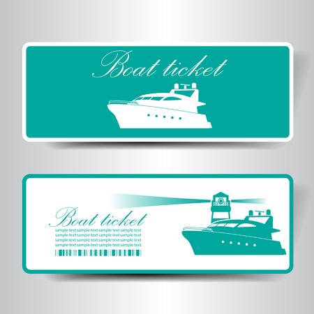 navios: barco bilhete Ilustra��o