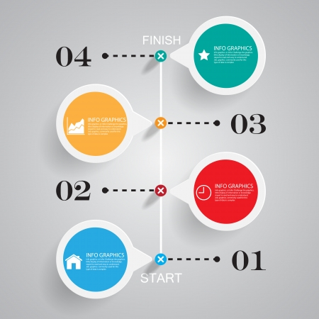 Business chart success ,Illustration  Vector