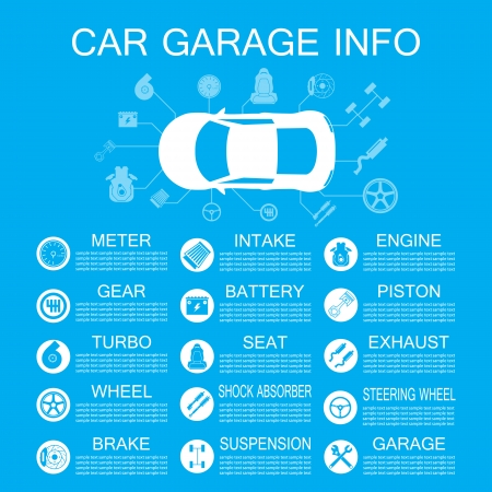data transmission: car part information Illustration