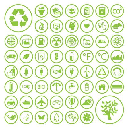 reciclar: Ecología y reciclaje iconos