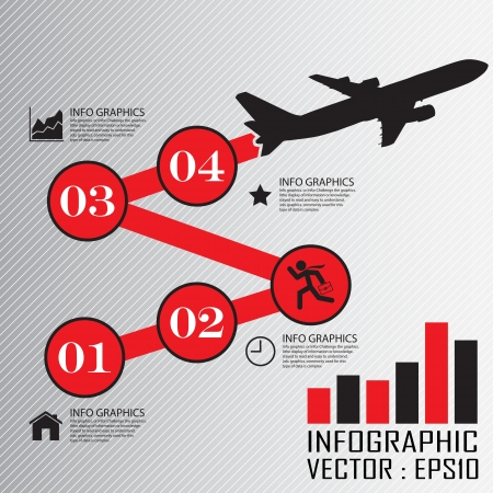 deduce:  Step by Step infographics Illustration