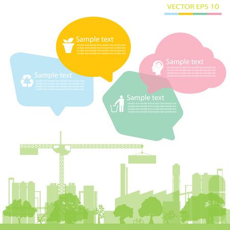 calentamiento global: f�brica ecol�gica verde, fondo