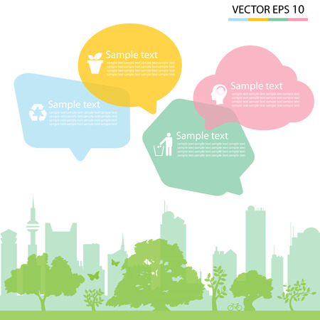 green eco city,background Illustration