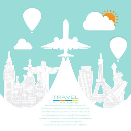 Travel around the world Illusztráció