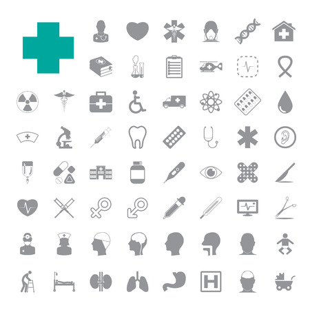 doctors and patient: Iconos m�dicos establecidos
