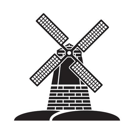 wiatrak Ilustracje wektorowe