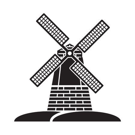 windmills: windmill Illustration