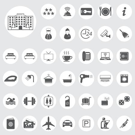 gym room: iconos de hotel