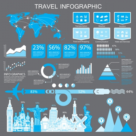 new york map: travel infographic and icons