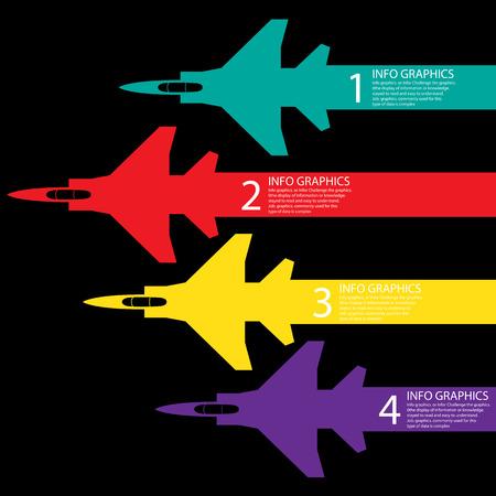 航空ショー: 飛行ショーの情報グラフィックの背景