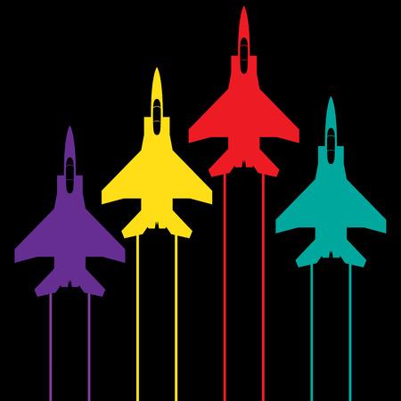 航空ショー: 情報グラフィックの背景、飛行ショー