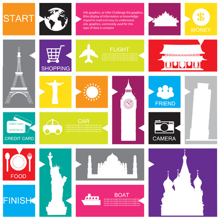 travel template for interface or infographic Vector