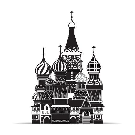 Saint Basil Kathedraal, Moskou, vector symbool