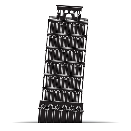 Pisa tower Icons, symbol Vector