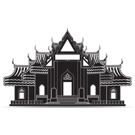 Thailand Temple Icons, symbol Vector
