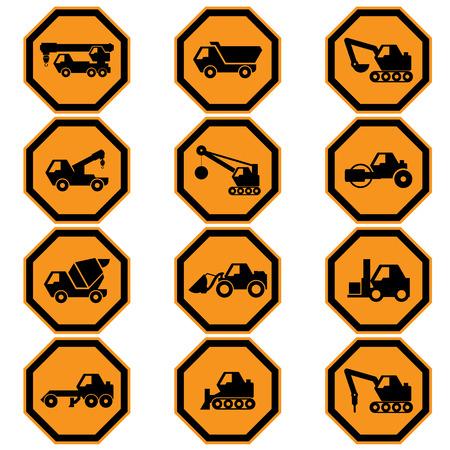 Construction signs set Vector