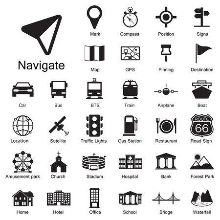theme parks: Navigation icons