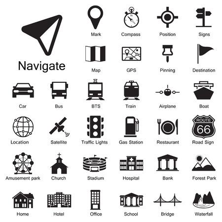 church icon: Navigation icons
