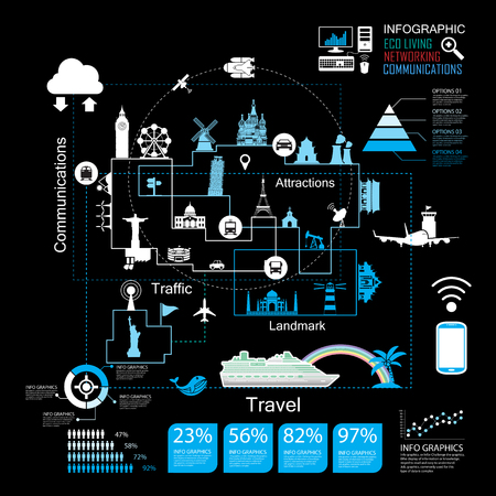 Traveling in the world,icons vector Vector
