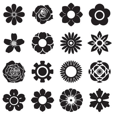 Flowers vector set, EPS10 Vector