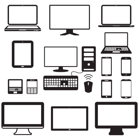 laptop screen: laptop, tablet computer, monitor and mobile screen