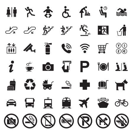 servicios publicos: Los anuncios públicos conjunto de vectores
