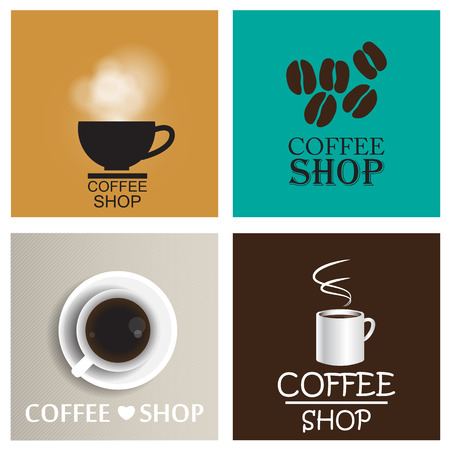 Coffee shop vintage vector set Vector