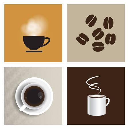Koffiehuis vintage vector set