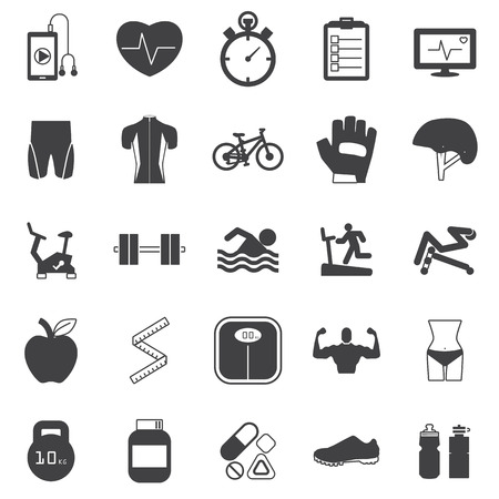 drink tools:  Fitness Icons set