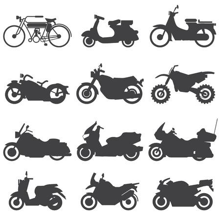 オートバイのアイコン セット ベクトル イラスト