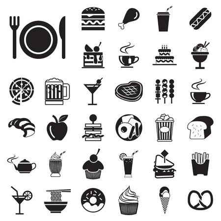vector menu  food and drink icons set  Vector
