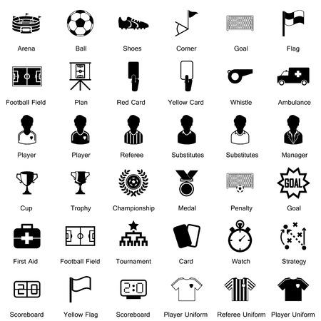 Soccer Icons set Illusztráció