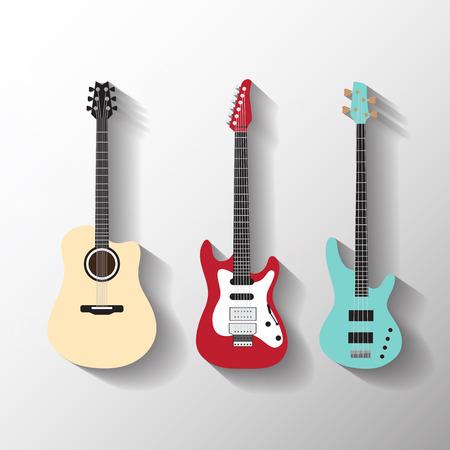 Guitarras vector fijadas