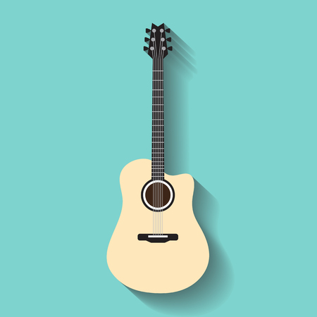 lessons: Vector guitars icon Illustration