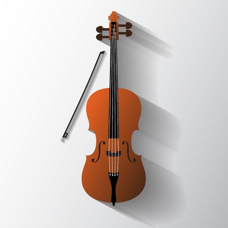cellos: Cello vector symbol