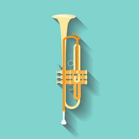 brass wind: Trumpet vector symbols